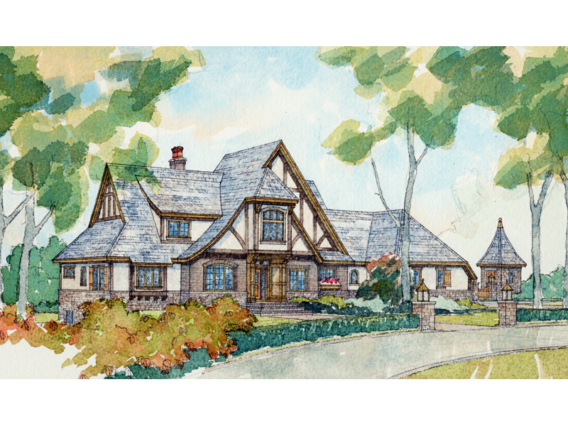 Two-Story Luxury Tudor Style House