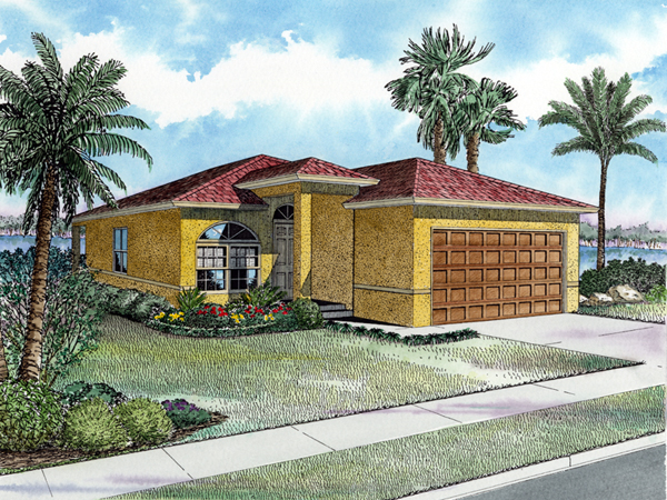 Marana sunbelt ranch home plan 106d 0004 house plans and for Sunbelt homes