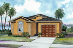 Stucco Sunbelt Ranch With Arched Window And Curb Appeal
