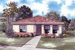 Simple Stucco Ranch House Has Great Curb Appeal