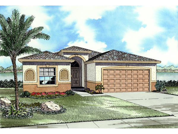 Santa fe spanish ranch home plan 106d 0013 house plans for Spanish style ranch house plans