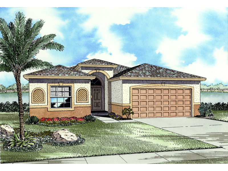 Santa Fe Spanish Ranch Home Plan 106d 0013 House Plans