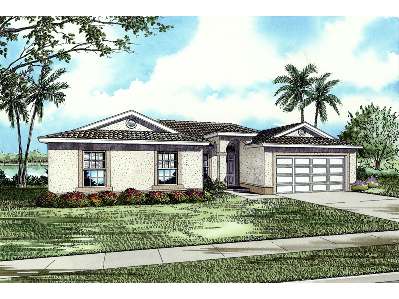 Santa Fe House Plan Front of Home - 106D-0018 | House Plans and More