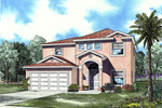 Two-Story Stucco Home With Simple Sunbelt Style