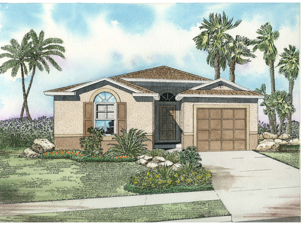 Wingate Southwestern Ranch Home Plan 106d 0028 House