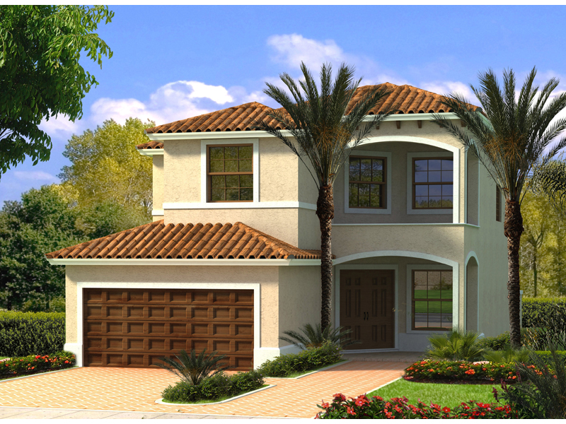 Tropical hill florida home plan 106d 0044 house plans for Two story florida house plans