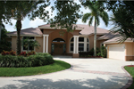 Stucco Floridian Style Home
