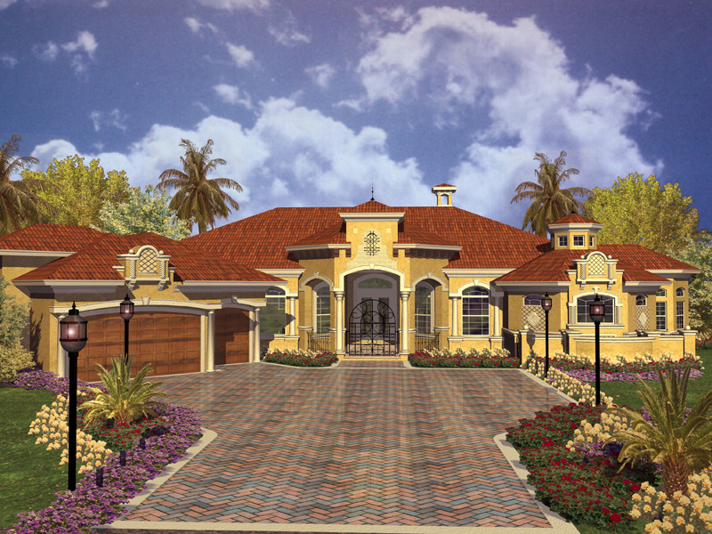 Key west spanish style home plan 106s 0012 house plans Spanish mediterranean style house plans