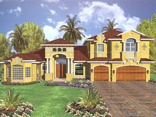 Sumantra Santa Fe Style Home Plan 106s 0036 House Plans