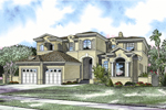 Two-Story Luxury Stucco Home With Stylish Shutters