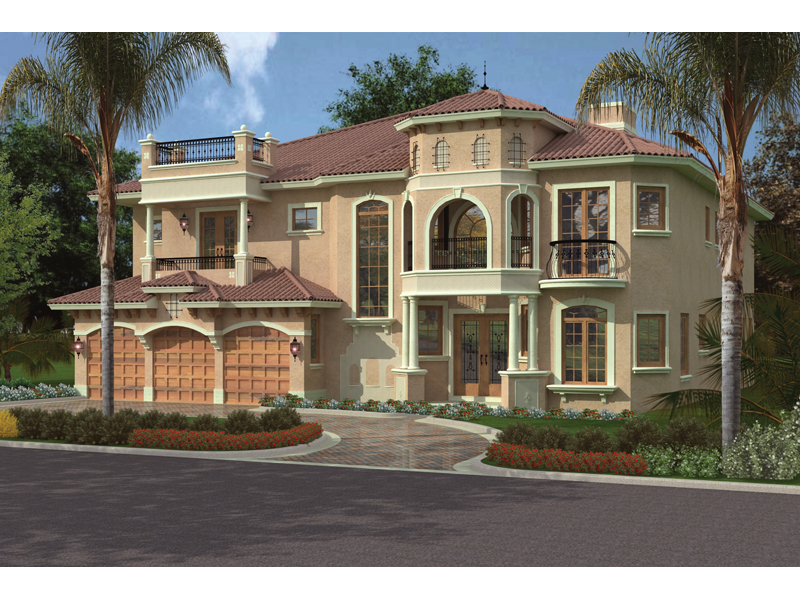 Mediterranean House Plan Front Image - 106S-0041 | House Plans and More