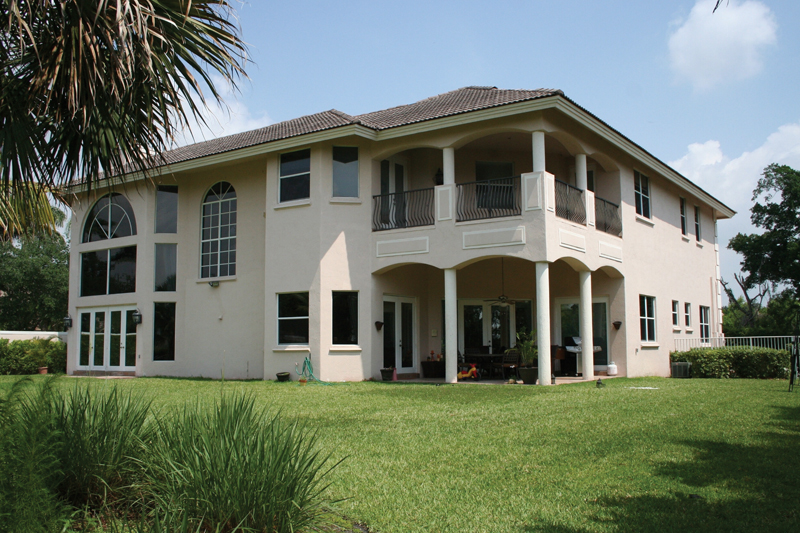 Florida House Plan Rear Entry Photo 106S-0043