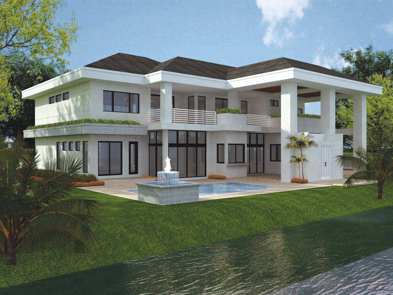 Modern House Plan Color Image of House - 106S-0046 | House Plans and More