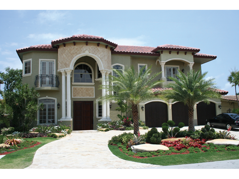 Florida House Plan Front of Home 106S-0052