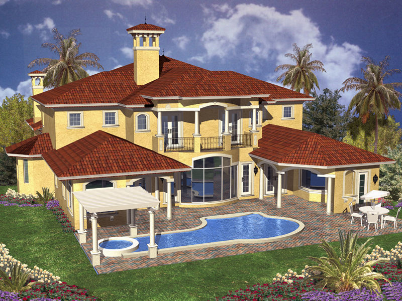 Mediterranean House Plan Color Image of House - 106S-0056 | House Plans and More