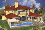Florida House Plan Color Image of House - 106S-0056 | House Plans and More