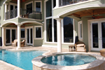 Sunbelt Home Plan Pool Photo - 106S-0059 | House Plans and More