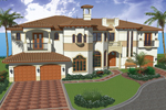 Mediterranean Manor With High Style