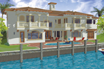 Florida House Plan Color Image of House - 106S-0060 | House Plans and More