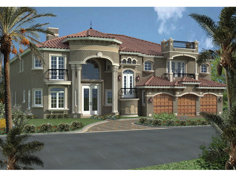 Palm harbor place sunbelt home plan 106s 0061 house for Two story mediterranean house plans