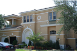 Stucco Two-Story With Elegant Formal Front Facade