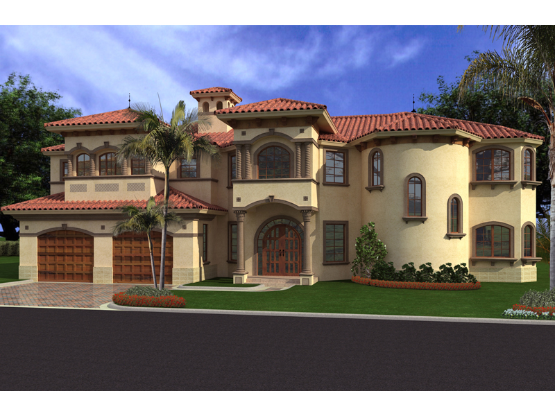 Spanish Mediterranean Home With Multiple Windows Placida