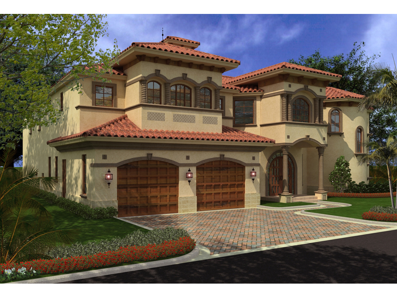 Spanish House Plan Color Image of House - 106S-0068 | House Plans and More