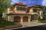 Adobe and Southwestern Plan Color Image of House - 106S-0068 | House Plans and More