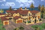 Spanish Mediterranean Multi-Level Mansion