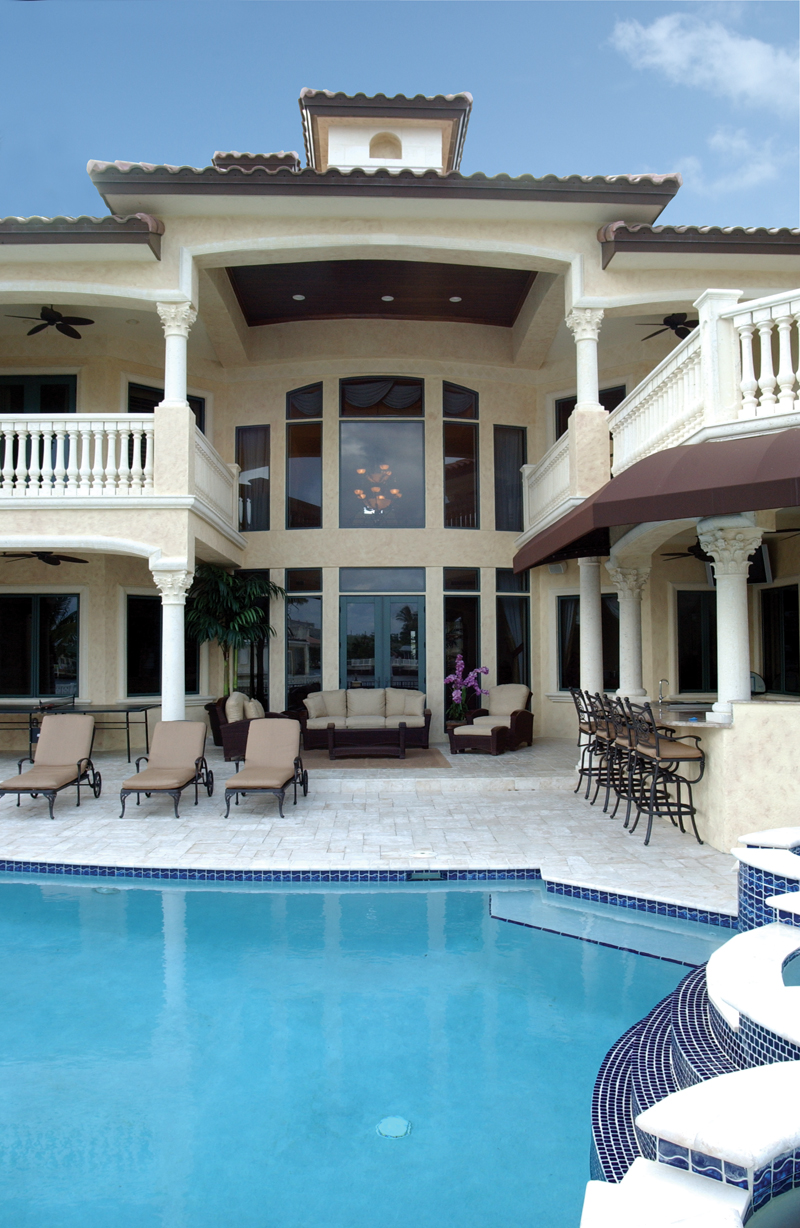 Home plans with pool home designs with pool from homeplans com - Luxury House Plan Pool Photo 106s 0070 House Plans And More