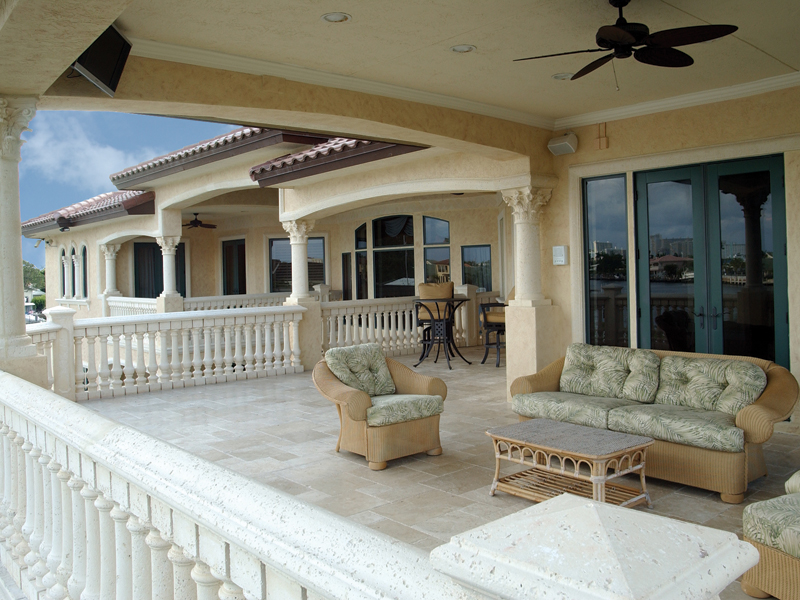 Florida House Plan Rear Porch Photo 106S-0070
