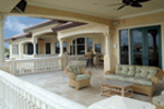 Mediterranean House Plan Rear Porch Photo - 106S-0070 | House Plans and More