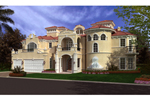 Majestic Spanish Mediterranean Three-Story