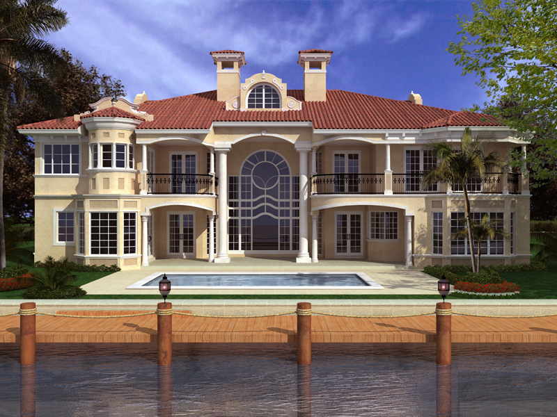 Spanish House Plan Color Image of House - 106S-0073 | House Plans and More