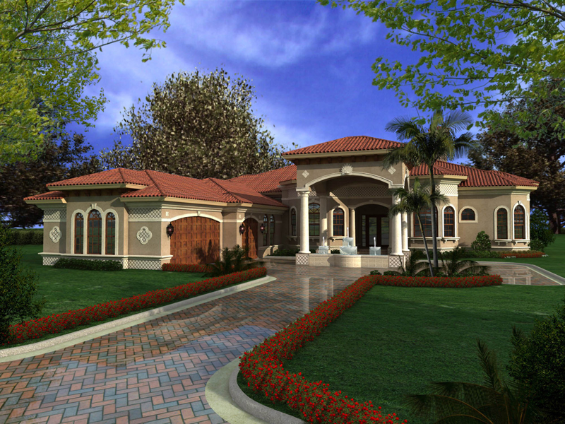 one story mediterranean house plan