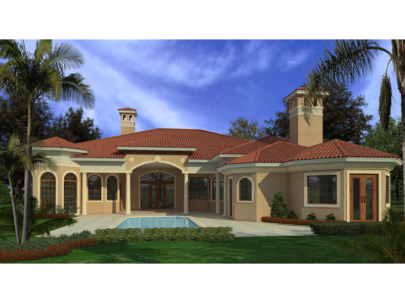 Sunbelt Home Plan Color Image of House - 106S-0080 | House Plans and More