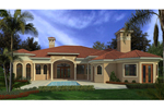 Southwestern House Plan Color Image of House - 106S-0080 | House Plans and More