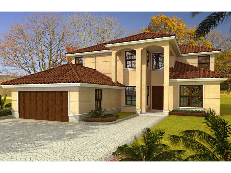 Spanish House Plan Front of Home 106S-0082