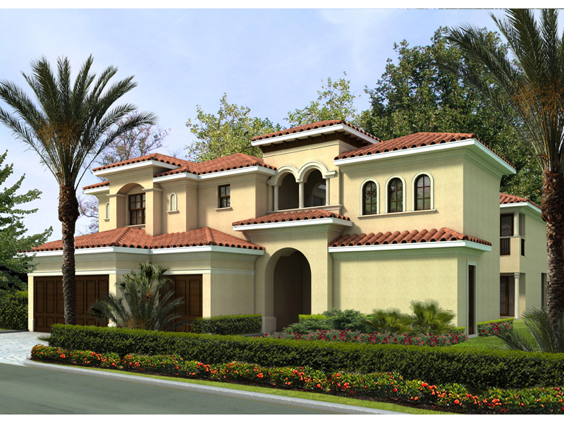 luxurious two story mediterranean