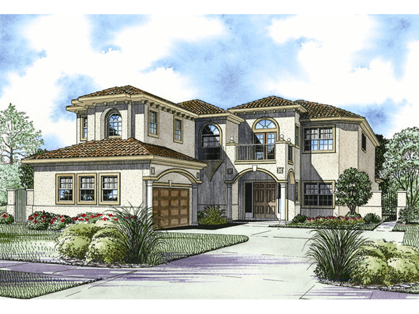 San simon florida style home plan 106s 0096 house plans for Two story florida house plans