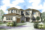Two-Story Luxury Florida Style Home With Sleek Stucco Exterior