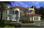 Spanish Floridian Manor Home With Intircate Stucco Details