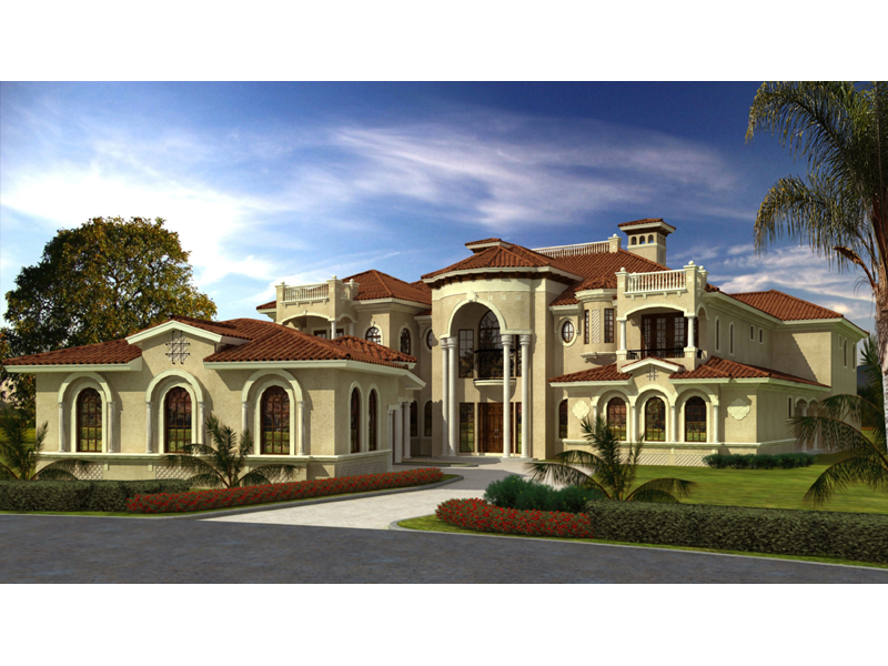 San carlo manor spanish home plan 106s 0100 house plans for House plans mediterranean style homes