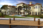 Mediterranean House Plan Color Image of House - 106S-0100 | House Plans and More
