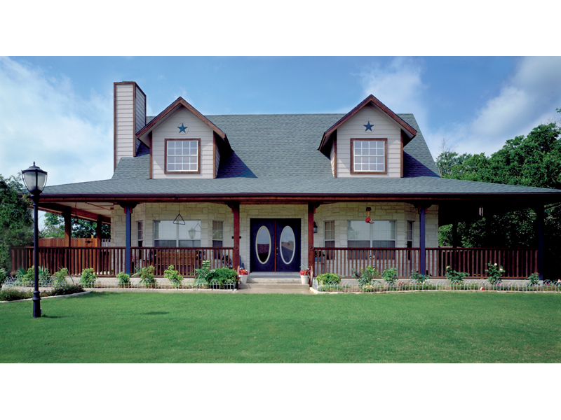 Traditional House Plan Front of Home 111D-0003