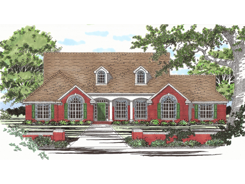 Dormers And Arched Windows Decorate Ranch