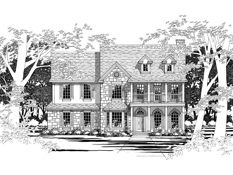 Plantation Home With Exquisite Stone Décor