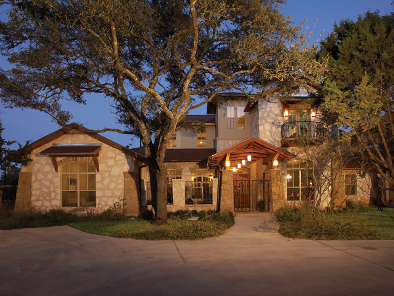 Prairie Style Floor Plan Front of Home 111S-0005