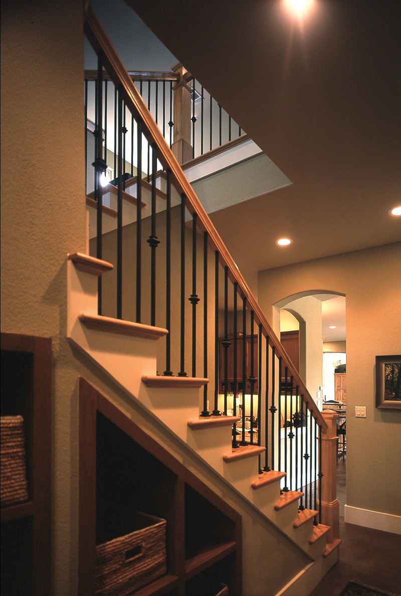 Prairie Style Floor Plan Stairs Photo 111S-0005