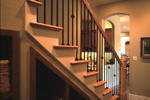 Prairie Style Floor Plan Stairs Photo - 111S-0005 | House Plans and More